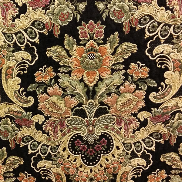 Uffizi Palace Jet Black Tapestry Upholstery Fabric by Swavelle ...