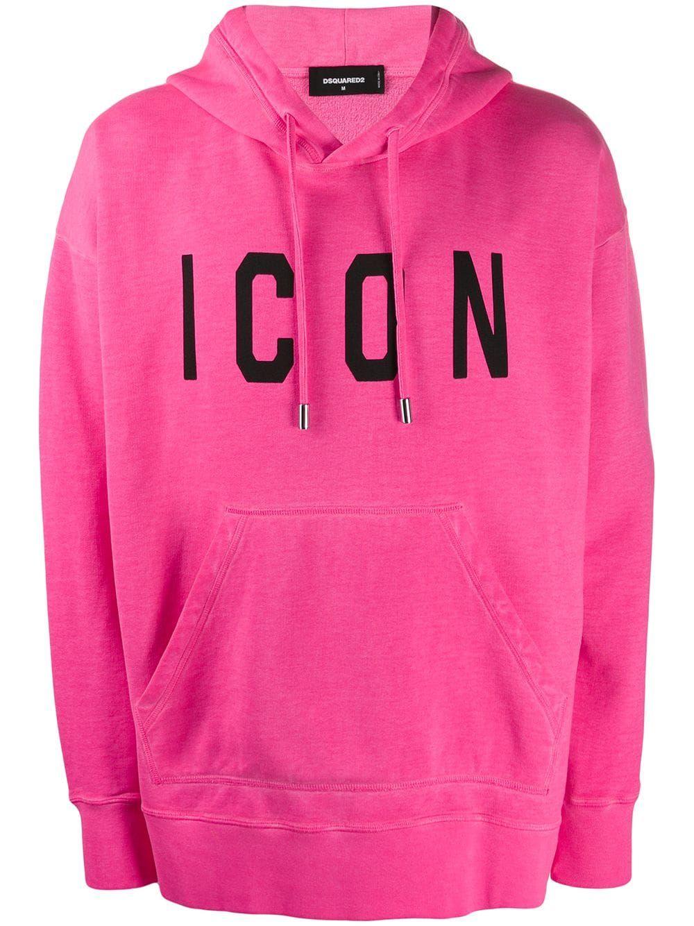 Dsquared2 Icon Logo Hoodie Farfetch Hoodies Pink Hoodie Timeless Wardrobe Staples [ 1334 x 1000 Pixel ]