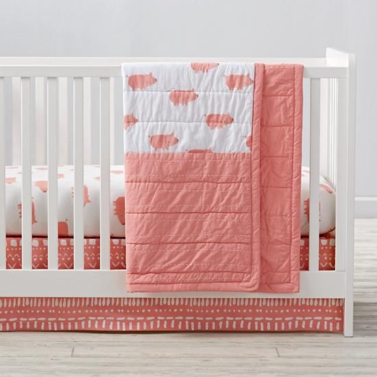 Wild Excursion Pig Crib Bedding And Quilt The Land Of Nod Sib