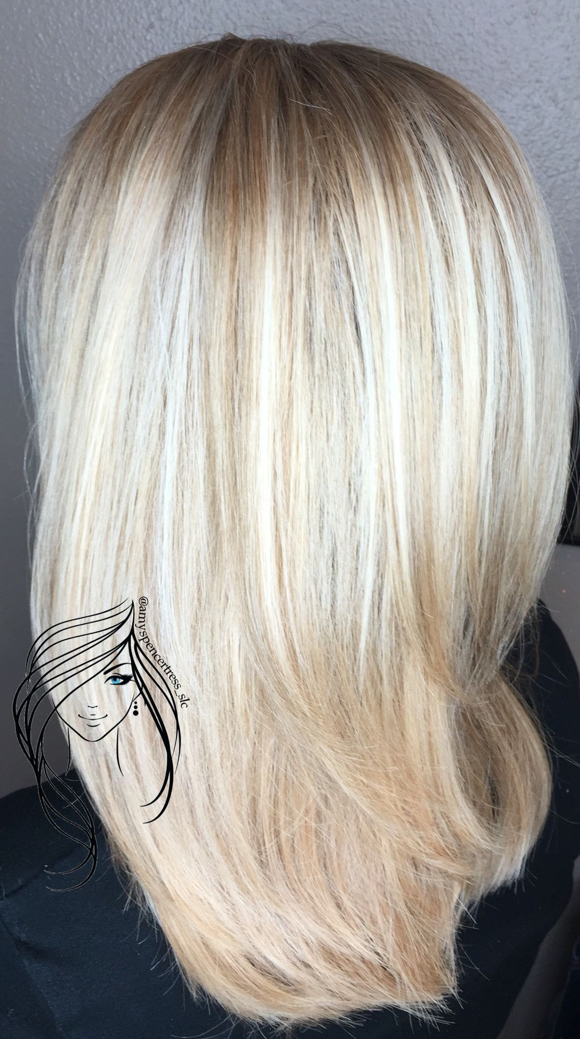 Hand painted blonde highlight