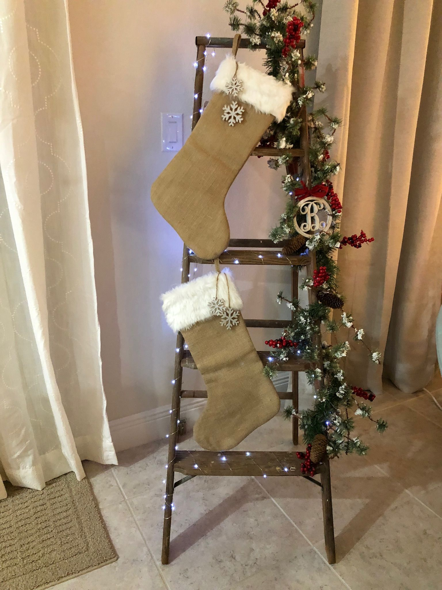 Dads Old Ladder Miss You Dad Ladder Christmas Tree Christmas Decorations Christmas Diy