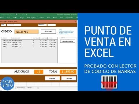 formulario de punto de venta en excel vba probado con lector de cdigo de barras