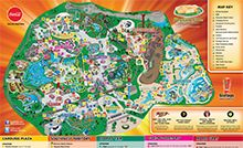 Park Map Six Flags Great America Six Flags Great America Flag