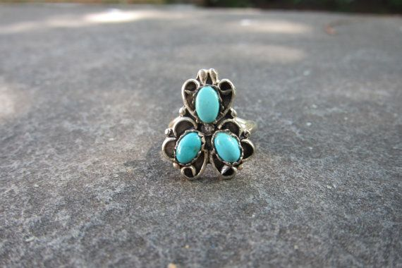 Vintage Native American Sterling Silver Ring by crystalcatvintage, $16.00