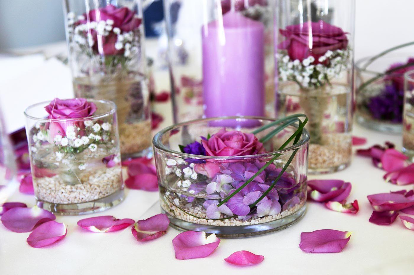 Blumendeko im Glas in 2019  Nachtisch  Tischdeko
