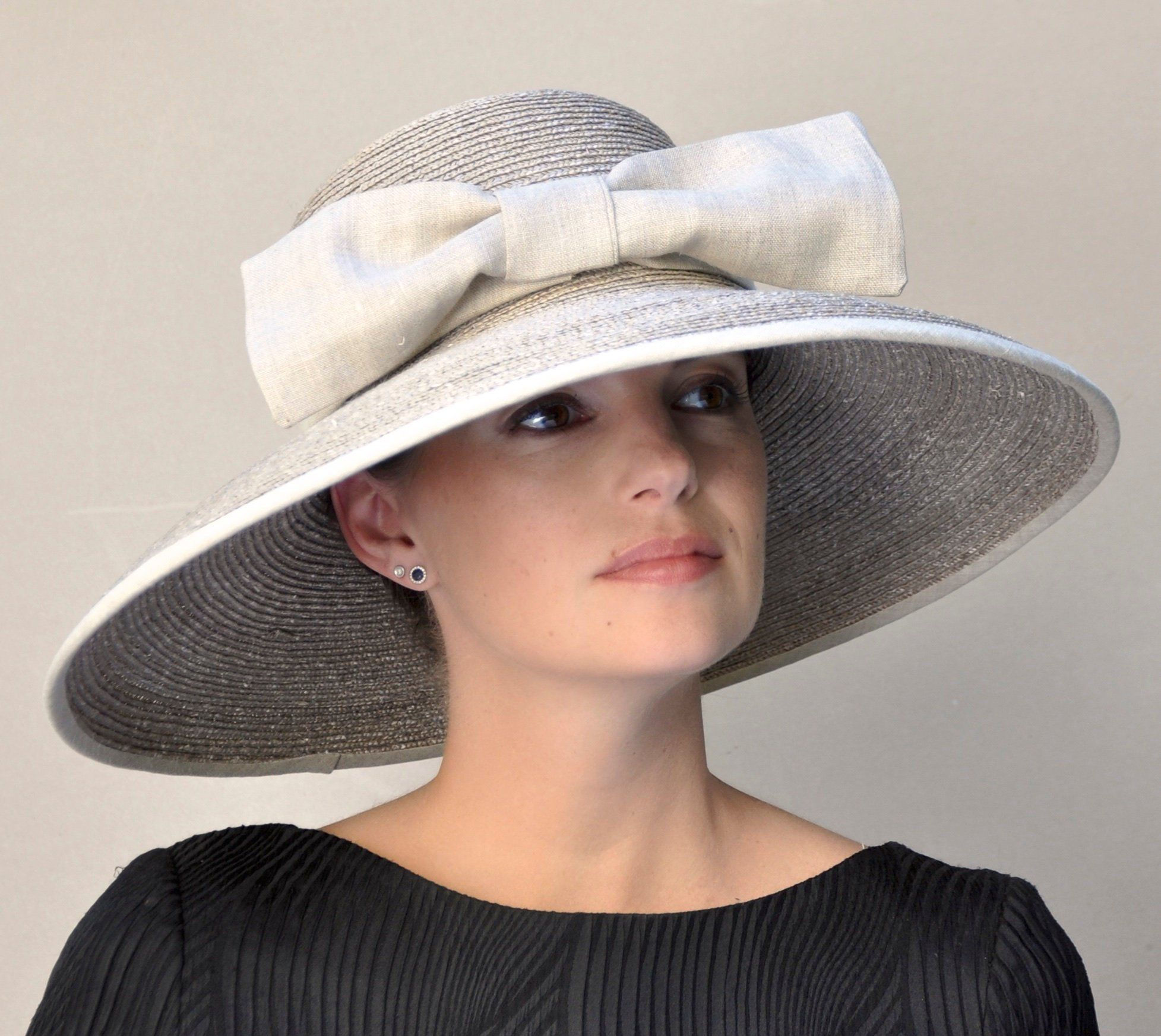 3f2a929be3d39 Taupe Wedding Hats