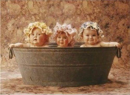 ANNE GEDDES BATHING BEAUTIES BABIES IN WASH TUB FRAMED PRINT 11 X 9 ...