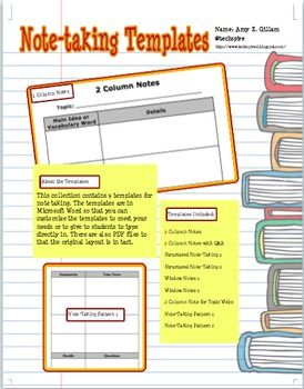 Note Taking Templates | Note and School