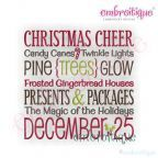 Embroidery Designs (All) - Christmas Cheer Word Block on sale now at Embroitique!