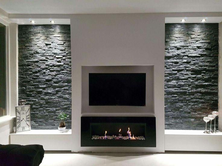 Wirklich So Aussehen Sauber Und Einfach Aussehen Einfach Sauber Wirklich Fireplace Tv Wall Living Room Tv Wall Rustic Apartment