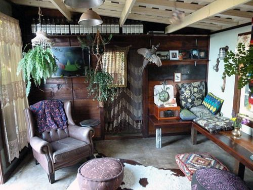 my studio featured on bohemian homes tumblr inside outside