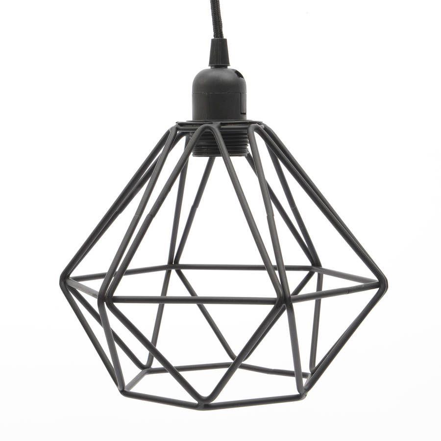 Black Wire Pendant Light Miafleur Notonthehighstreet.com