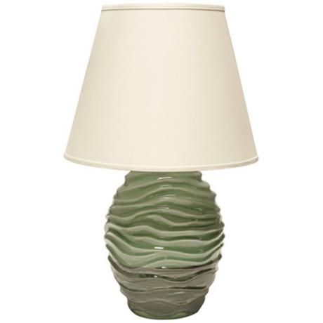 Haeger Potteries Wave Adrift Ceramic Table Lamp 3d868 Lamps Plus Ceramic Table Lamps Table Lamp Lamp