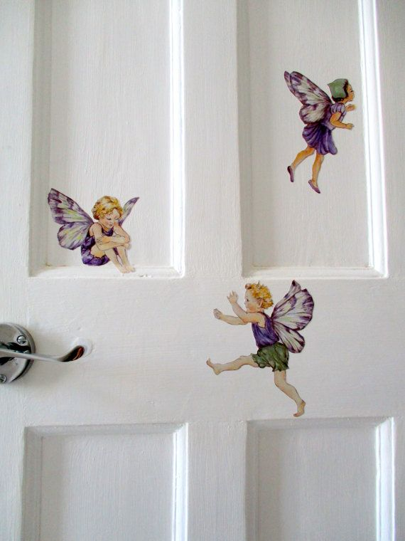Fairy wall decals - perfect addition to fairy decor, girls bedrooms, playrooms, and nurseries. Click to check out the full range of fairy tale decals in my Etsy store.
