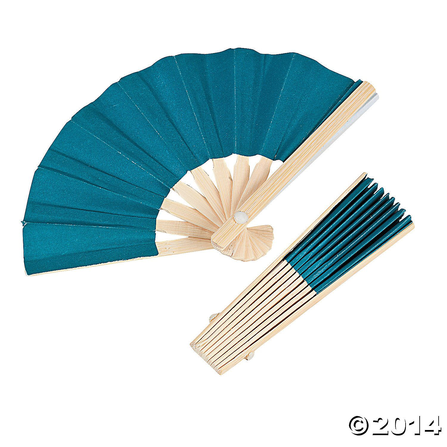 Mini+Turquoise+Bamboo+Fans+-+OrientalTrading.com | Wedding Stuff and ...