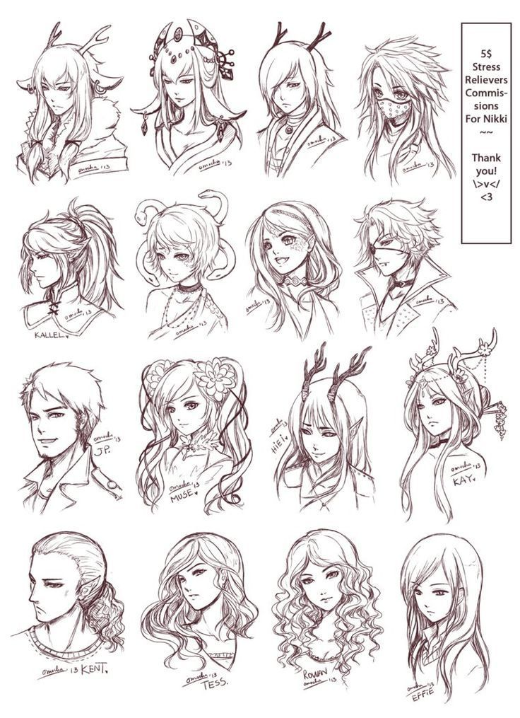 Image Result For Manga Anime Hairstyles Girl Art Drawings