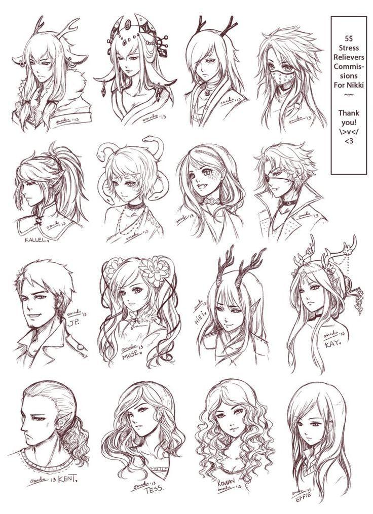 Image Result For Manga Anime Hairstyles Girl People Drawing ʕ ﻌ ʔ