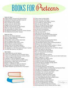 Books for preteens!