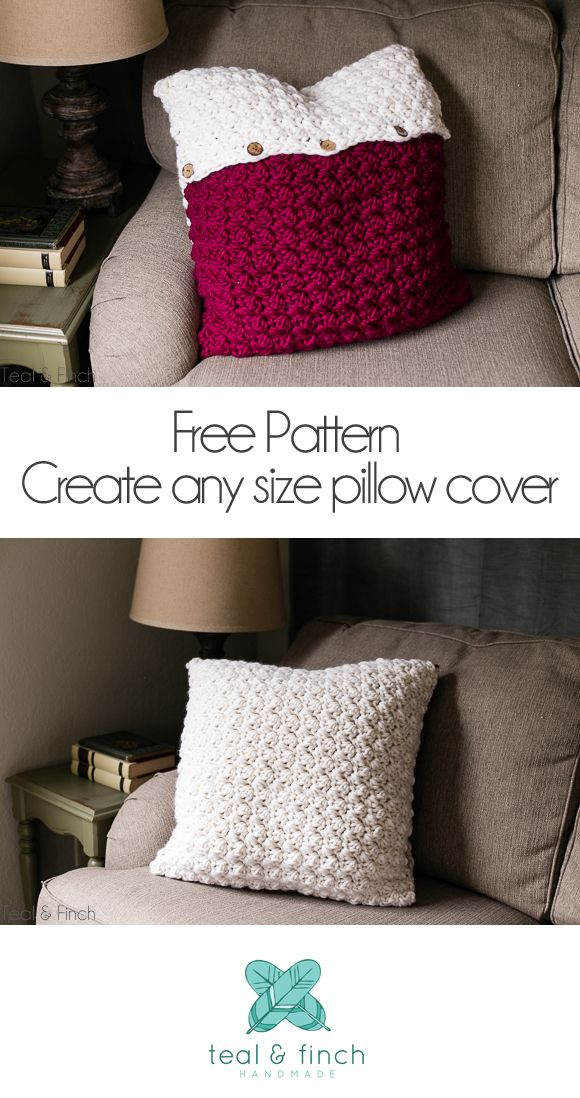 Crochet Pillow Cover Free Pattern Teal Finch Crochet Patterns