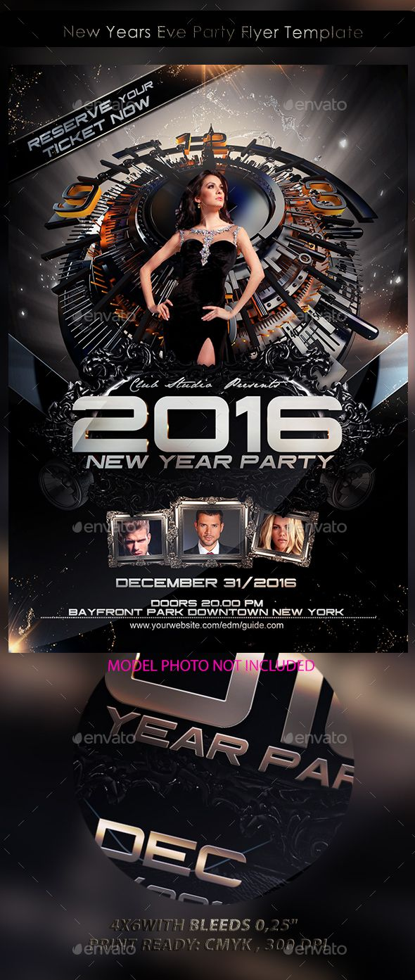 New Year Party Flyer Bundle  Party Flyer Template And Flyer Template