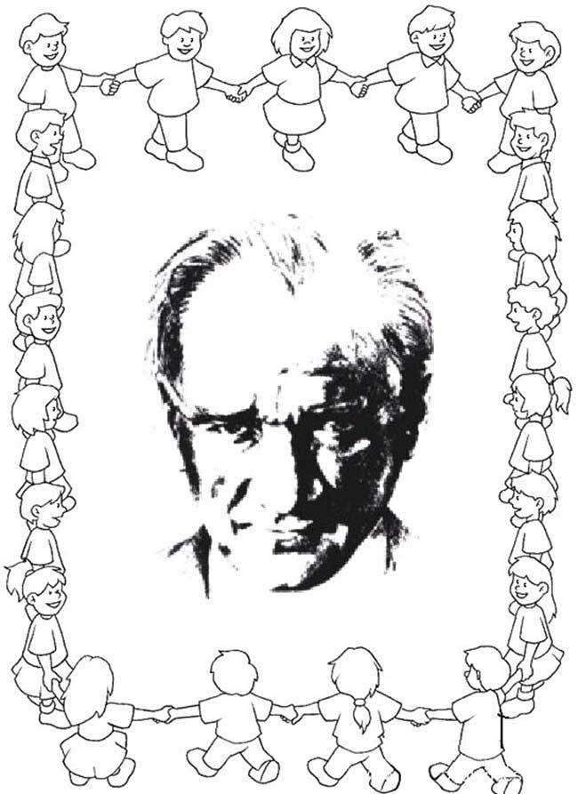 29 Ekim Cumhuriyet Bayrami Ataturk Kalibi Boyama Sayfalari