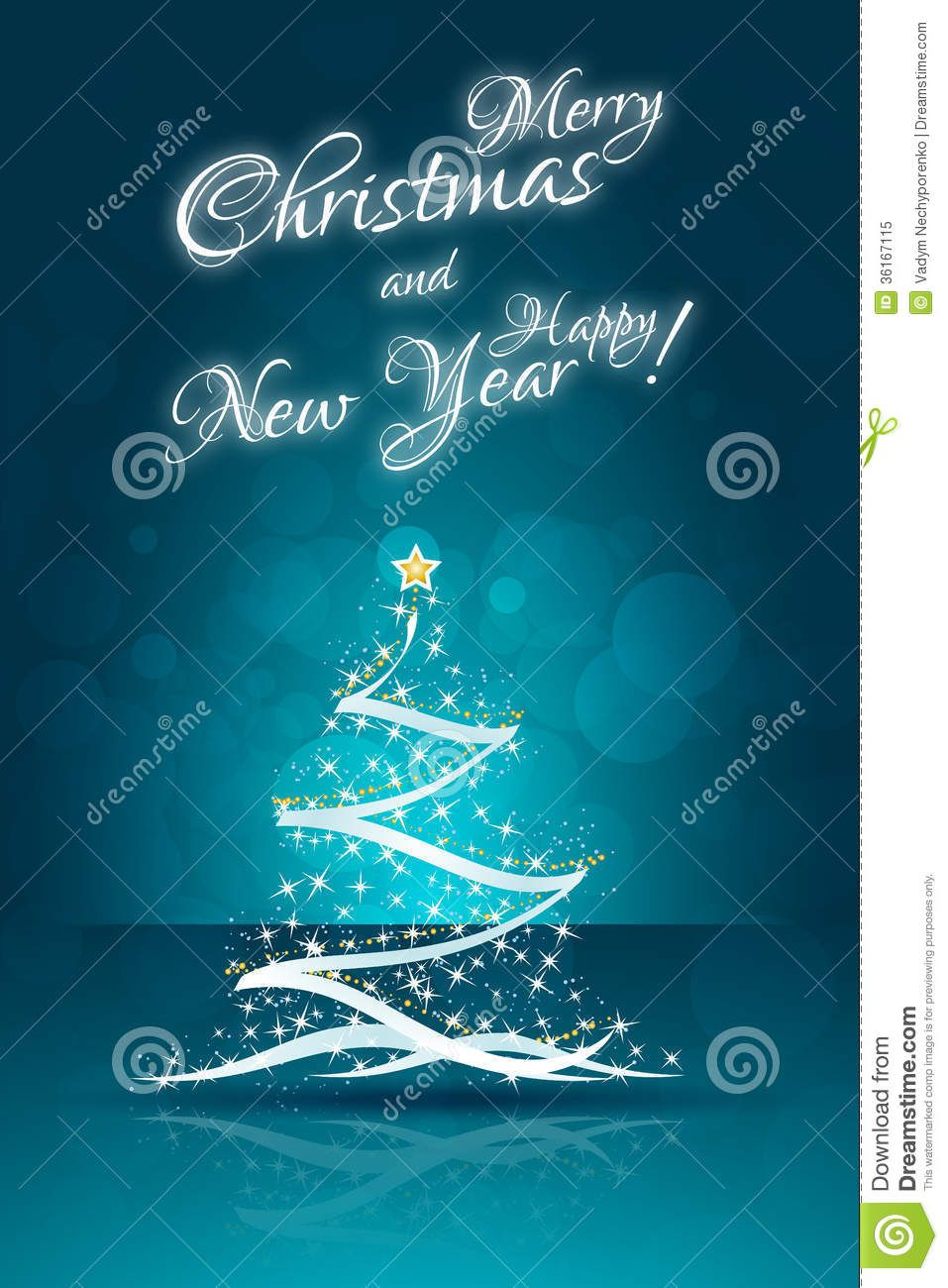 Christmas Card Templates Christmas Card Template With Abstract