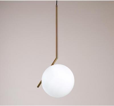 Artemide Pendant Lamp Nordic Milk White Glass Ball Pendant Light