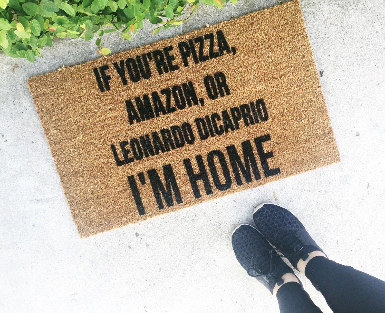 Pizza Amazon Leonardo Dicaprio Doormat Funny Doormat Personalized Mat Welcome Mat Leo Dicaprio Floormat Custom Doormats Leonardo Dicaprio Funny Doormats Door Mat
