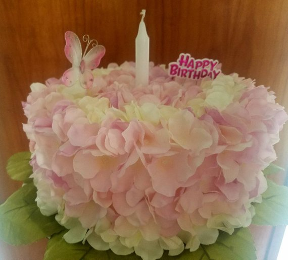 Silk Flower Birthday Cake Grave Decoration Products Grave