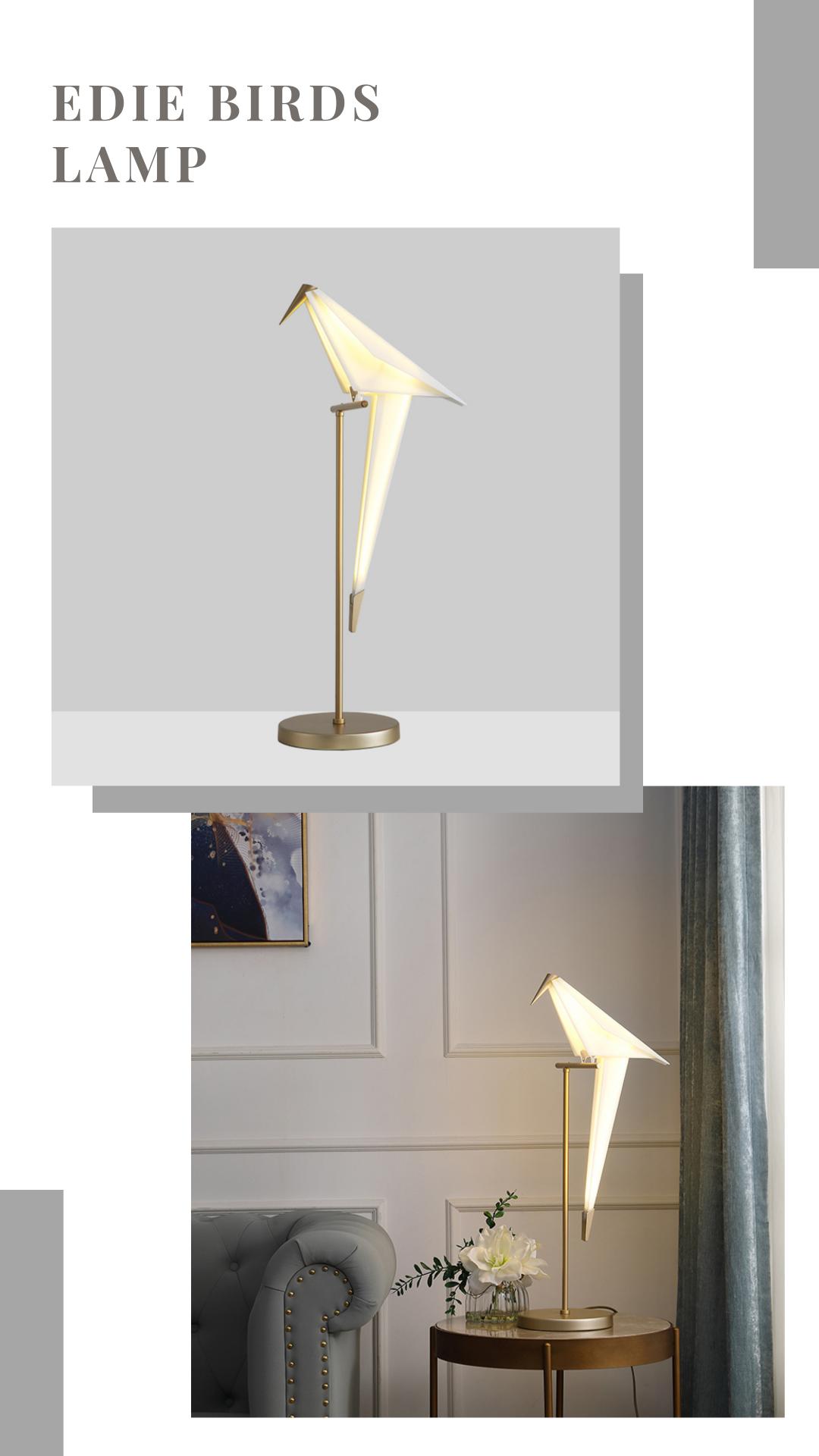 Edie Birds Lamp In 2020 Floor Lamp Styles Rustic Floor Lamps