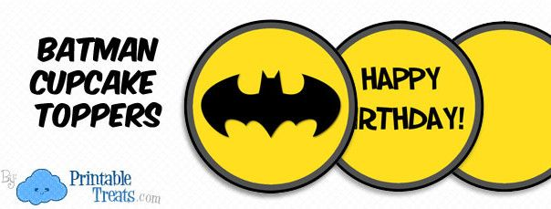 image relating to Batman Cupcake Toppers Printable named free of charge batman cupcake toppers Batman Birthday Printables