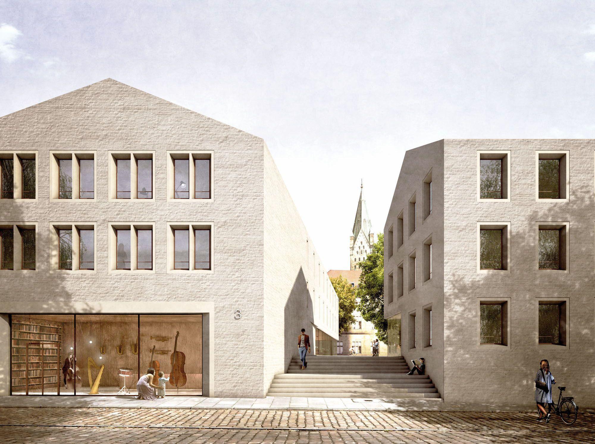 Architekt Paderborn domblick staab architekten gewinnen in paderborn architecture