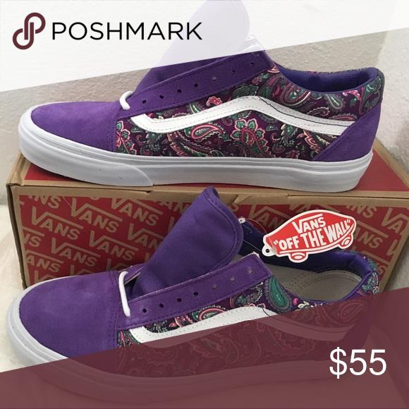 vans purple paisley shoes