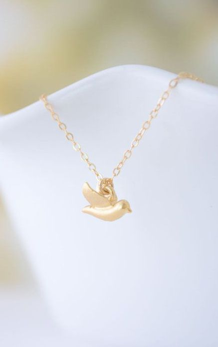 Initial Charm Initial Necklace Birds Charm Necklace Bird Charm Personalized Necklace Gold Sparrow Bird Charm Necklace Sparrow Necklace