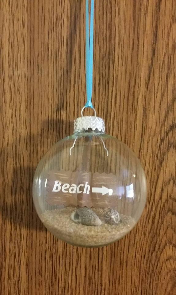 Beach Themed Christmas Ornament