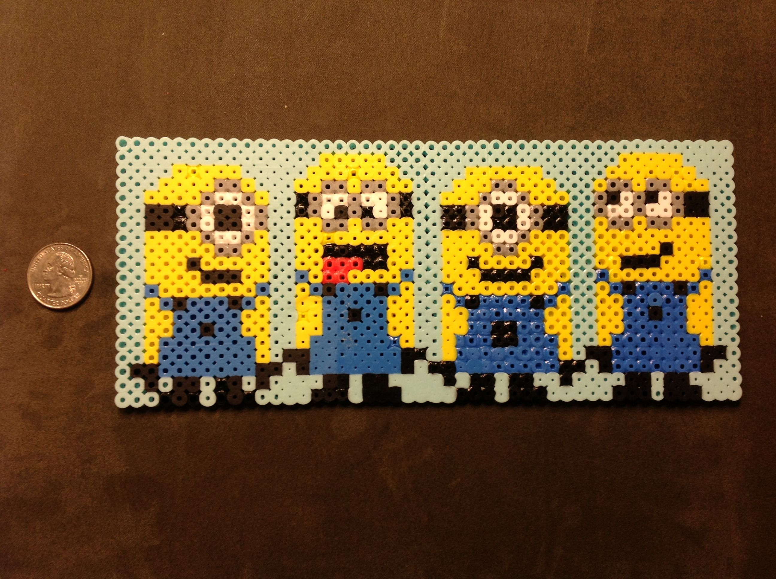 Minions perler beads design  Made it for a friend <3