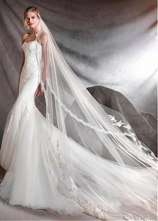 Elegent Tulle Sweetheart Neckline Mermaid Wedding Dresses With Lace Appliques