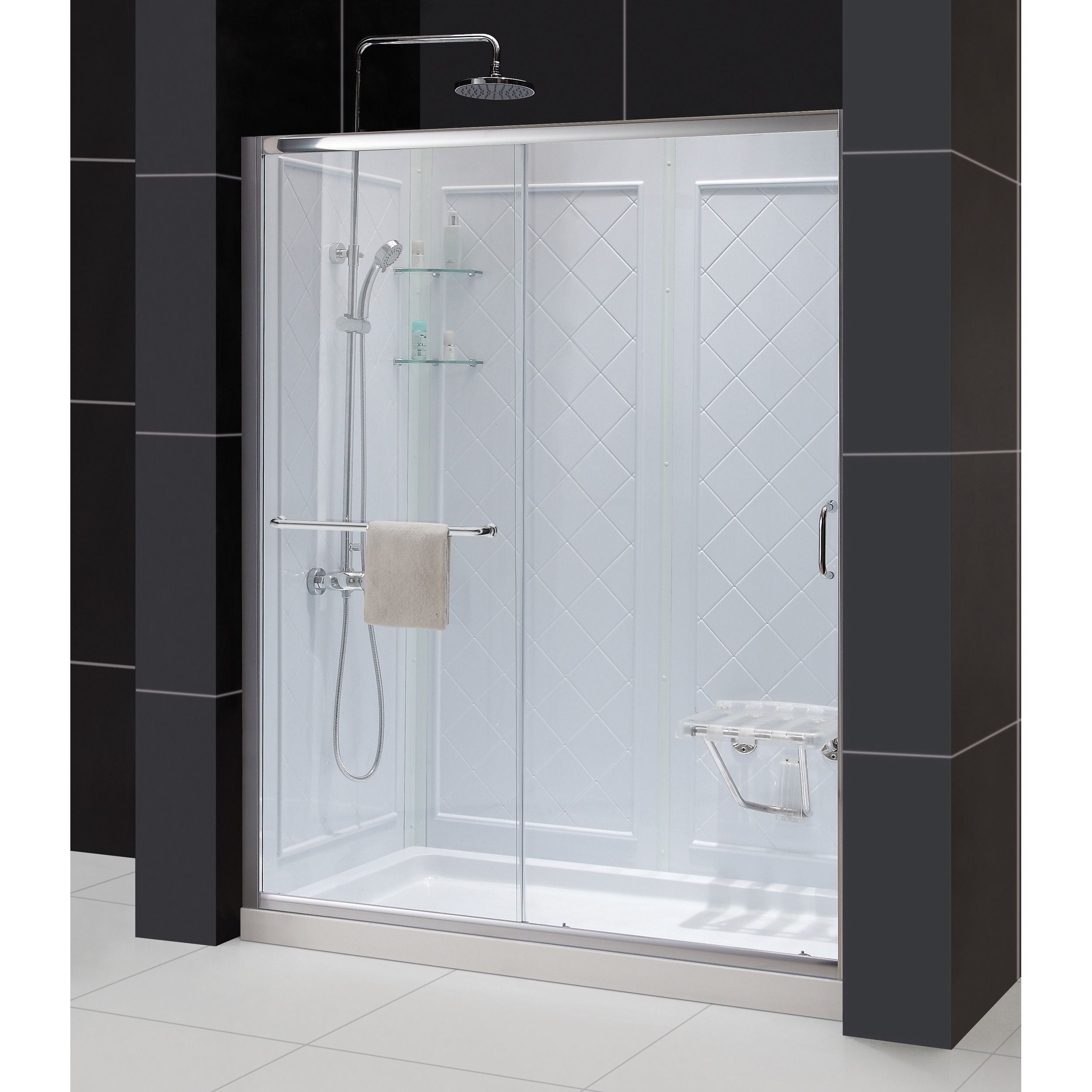 Dreamline Infinity Z Frameless Sliding Shower Door 30 In X 60 In