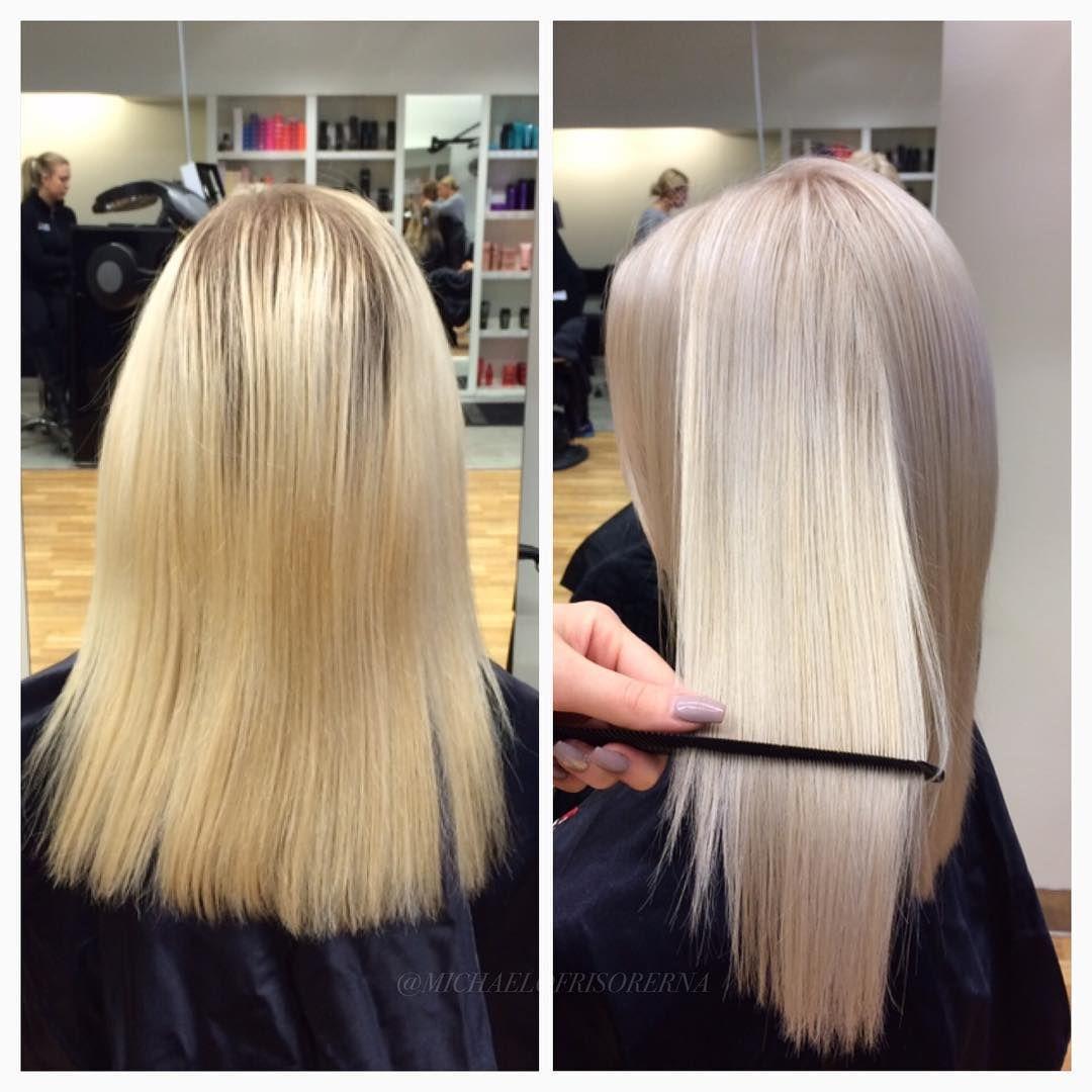 blond toning på mörkt hår
