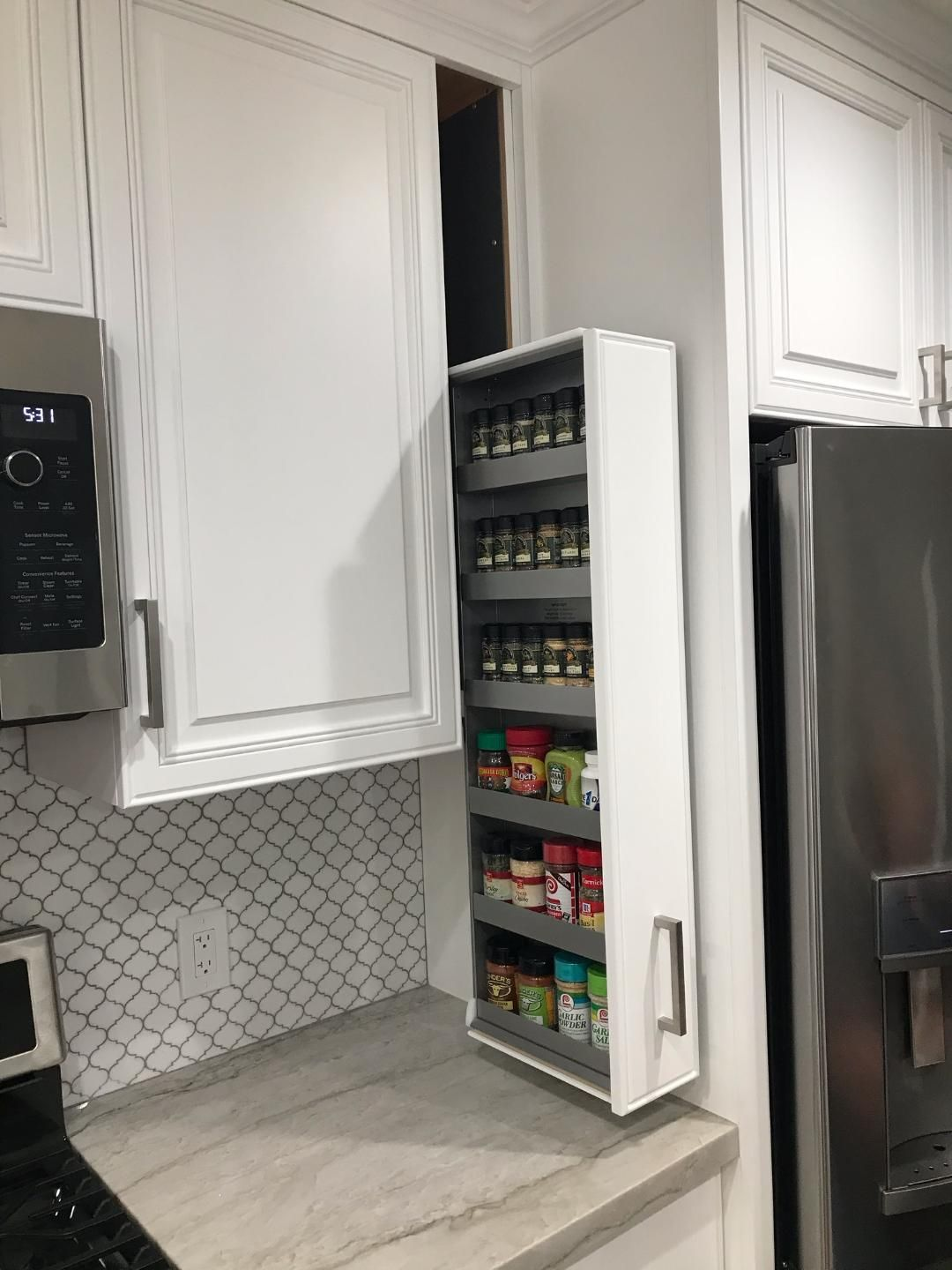 Ez Install Spice Rack In 2020 Kitchen Remodeling Projects Newly Remodeled Kitchens Upper Kitchen Cabinets