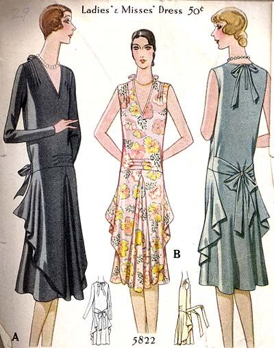 1920s Dress Pattern Mccall Pattern 5822 | 1920\'s | Pinterest | Mode ...