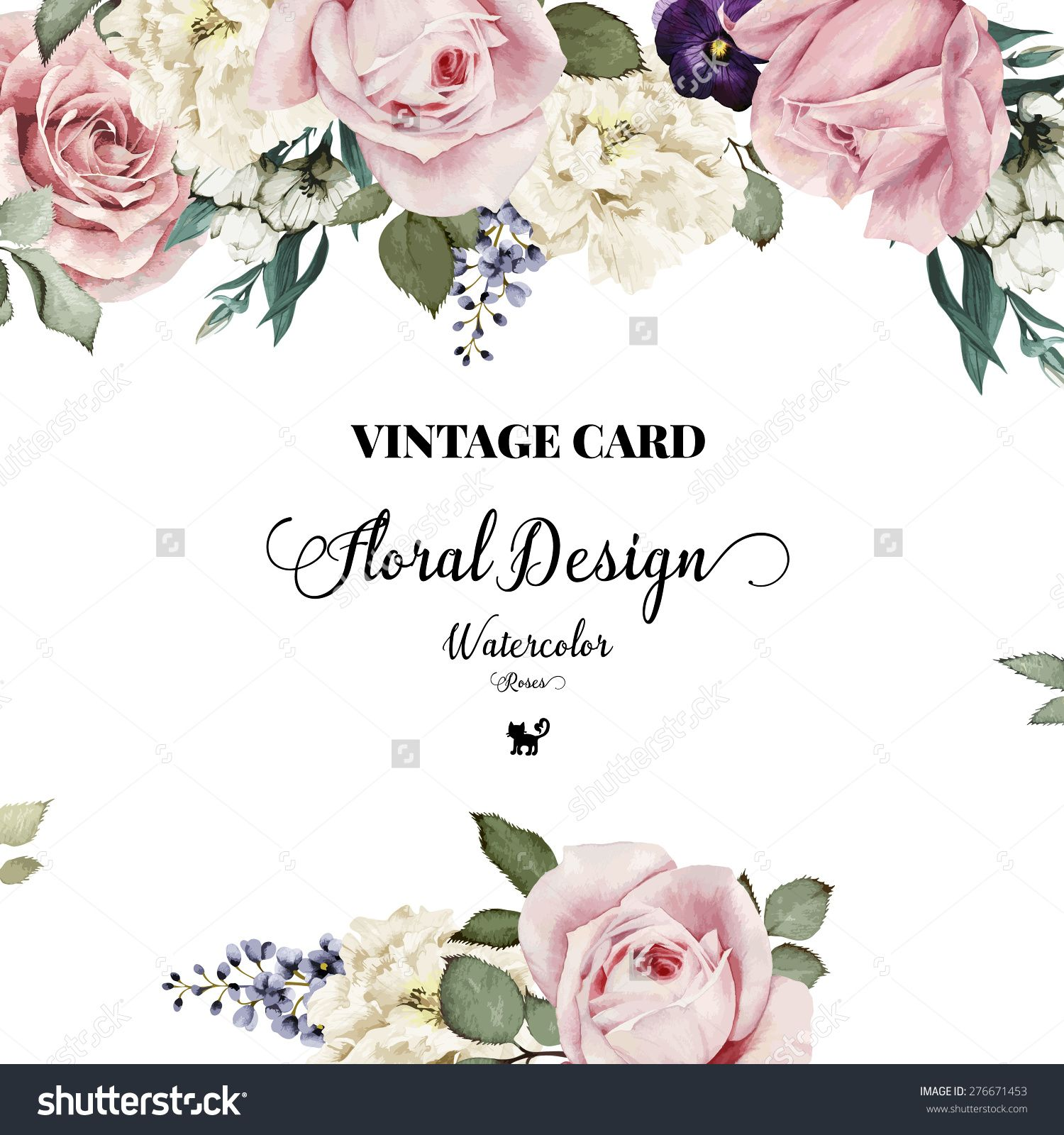 Flower happy birthday cards images sk p google greeting card with roses watercolor can be used as invitation card for wedding birthday and other holiday and summer background buy this stock vector stopboris Gallery
