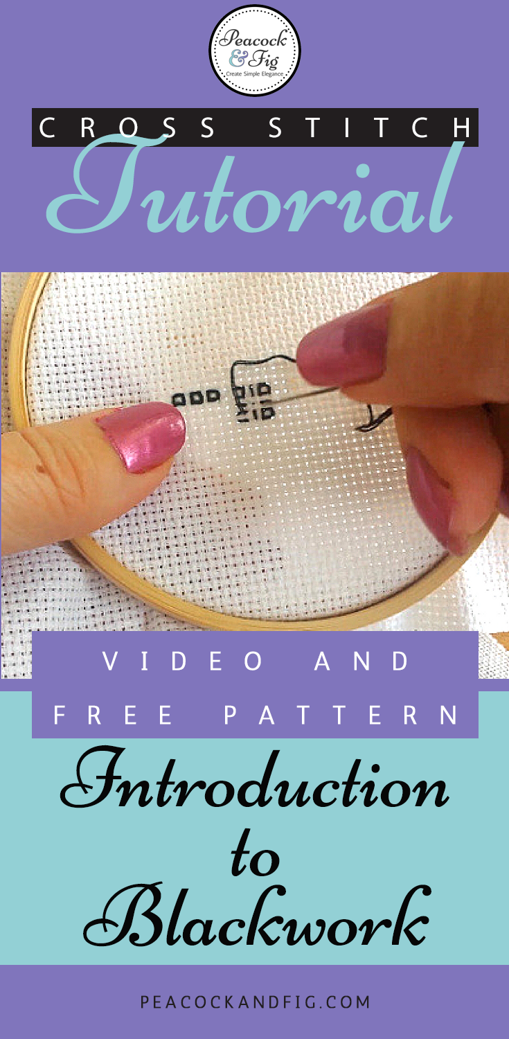 Embroidery stitches: blackwork | Bordado, Puntadas y Punto de cruz