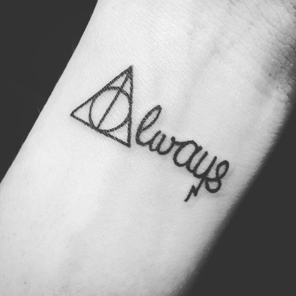 Harry Potter Tattoo Deathly Hallows Snape Always Always Harry Potter Tattoo Harry Potter Tattoo Small Harry Potter Tattoos