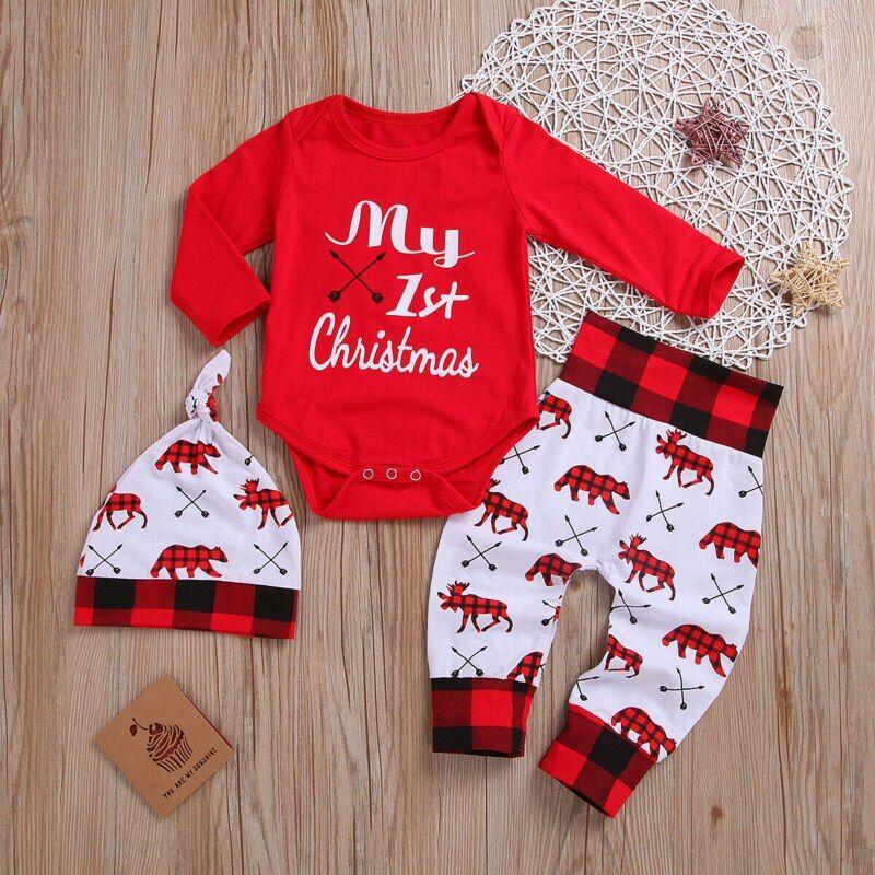 Lovely Kids Baby Girl Boy My First Christmas Girl Letter Baby Girl Romper Pant Hat Outfits Xmas Set Autumn Clothing#patpatbabies #babyoutfits #cuteclothing #babyclothing #toddleroutfits #parents #familymatching #matchingoutftis #mommyandme #minime #twinning #momlife #mothertobe #motherhood #instababy #cutebaby #babyootd #patpatshopping #babycenter #babyshopping #babyshower #babymoon #christmas #christmaspajamas #familypajamas #christmasstyle #Christmaslook #blackfriday #thanksgivingLovely