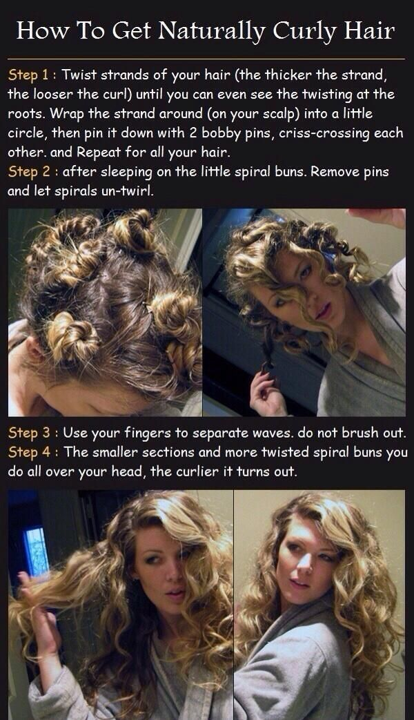 Spirals while you sleep=curly hair in the morning!