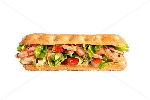 Prawn and tuna sandwich