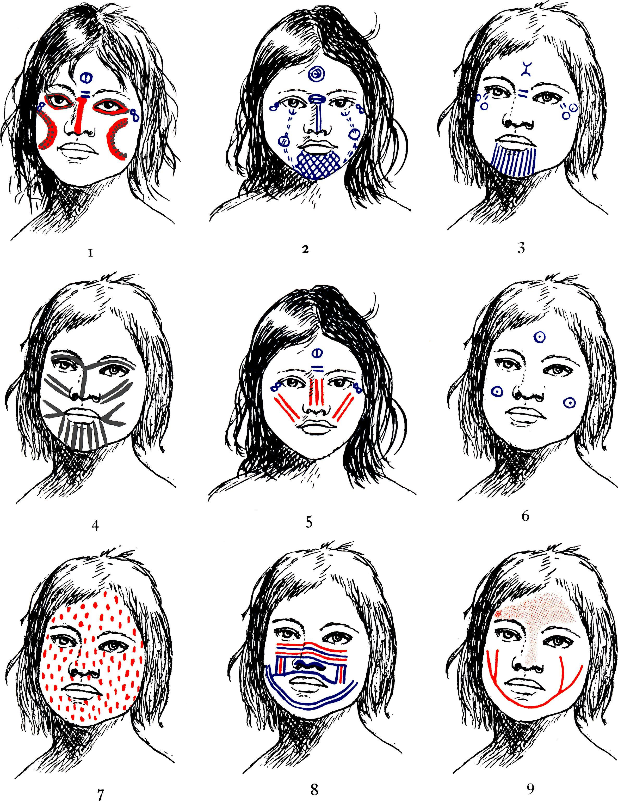 Pintura Facial Indigena Pinturas Indigena Pintura Facial