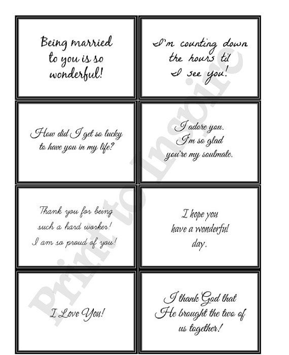 picture about Printable Love Note named Printable Lunchbox (or Each time) Enjoy Notes and Scripture