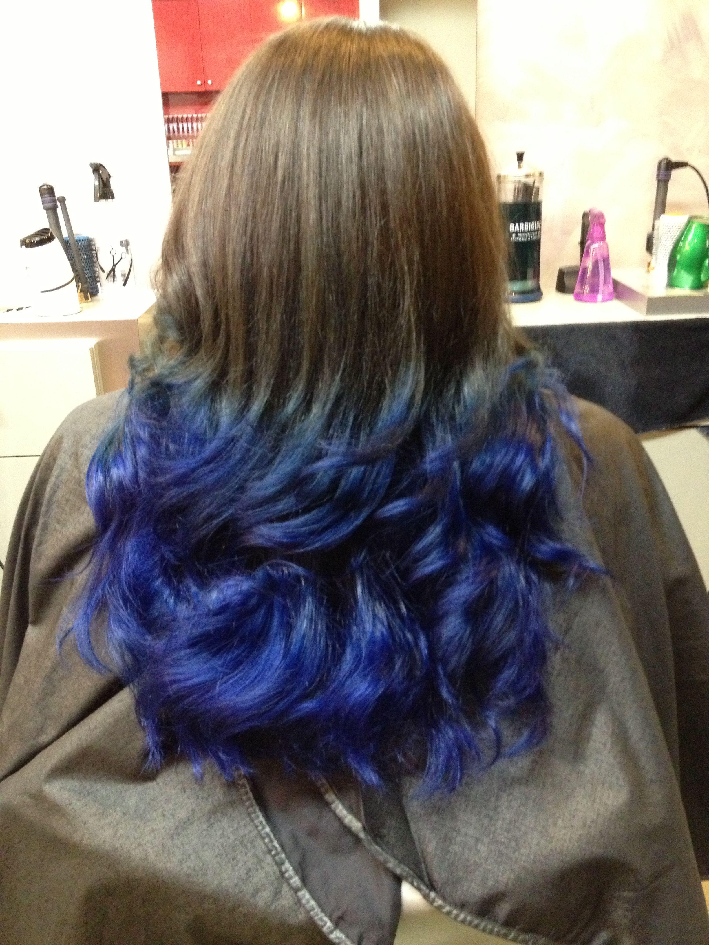 Blue Ombre Using Aveda Core Salon Randolph Nj Blue Ombre Hair